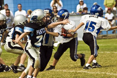 Little League Football/Blocking Royalty Free Stock Photography