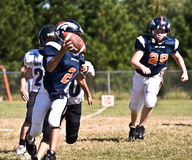 Little League Football Quarterback Stock Photo