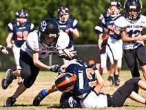 Little League Football Tackle Royalty Free Stock Photo