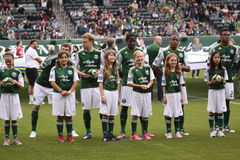 Little league  and Major League Portland Timbers Royalty Free Stock Photos