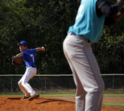 Little league pitcher Stock Photo
