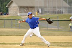 Little league pitcher royalty free stock image