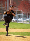 Little league pitcher Royalty Free Stock Photos