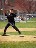 Little league pitcher Royalty Free Stock Photo