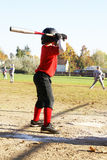 Little League player at bat. Stock Image