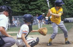 Little League player up at bat, Stock Photos