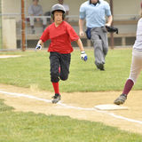 Little league runner royalty free stock images