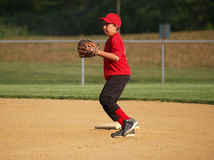 Little league second baseman royalty free stock photo