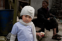 A little Lepcha girl Stock Images
