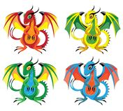 Little light fiery lizards. With wings Royalty Free Stock Images
