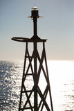 Little light tower at the aegean sea Stock Photos