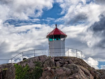 Little lighthouse in Lysekil, Sweden Royalty Free Stock Images