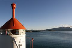 Little lighthouse in Norway Royalty Free Stock Image