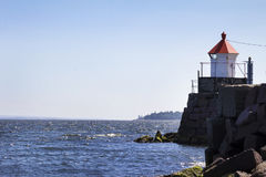 Little lighthouse in Norway Stock Images