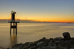 Little lighthouse after sunset Royalty Free Stock Image