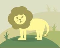 Little Lion. Vector design of a smiling lion royalty free illustration