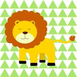 Little lion illustration vector for print Royalty Free Stock Photography