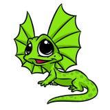 Little lizard big eyes cartoon illustration Stock Photography