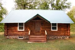Little Log Cabin Royalty Free Stock Photography