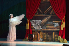 Little Longnose. DNIPROPETROVSK, UKRAINE - JANUARY 5, 2016: Musical play Little Longnose Stock Photos