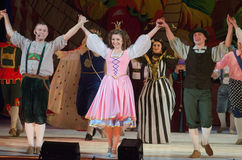 Little Longnose. DNIPROPETROVSK, UKRAINE - JANUARY 5, 2016: Musical play Little Longnose Royalty Free Stock Images