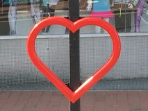A little love in town. Some Heart art Stock Photography