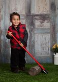 Little Lumberjack Royalty Free Stock Photography