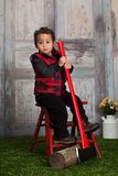 Little Lumberjack Stock Photo