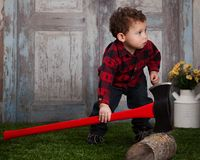 Little Lumberjack Royalty Free Stock Photos