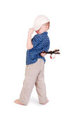 Little madcap with a slingshot Royalty Free Stock Photography