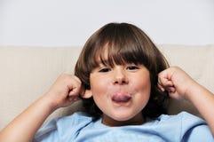 Little male portrait Stock Images