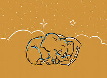 Little mammoth sleeps Royalty Free Stock Photos