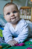 Little man, big trouble Stock Image