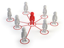 3d small people - partner network Stock Image