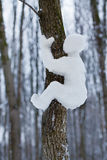 Little man made of snow Royalty Free Stock Photos