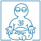 Little man in meditation. Illustration of the little man in meditation Stock Images