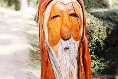Little man. Sculpture of a wooden man Royalty Free Stock Photography