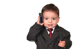 Little Man Series: Call On Line One! stock images