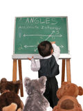 Little Man Series: Lecture on Angles stock photography