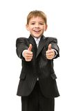 Little manager thumbs up Stock Images