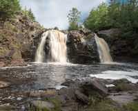Little Manitou Falls. On the Black River in Pattison State Parkin in Wisconsin Royalty Free Stock Photography