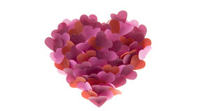 Little many hearts on white Royalty Free Stock Image