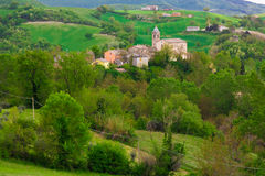 Little marche mountain village Royalty Free Stock Images