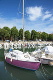 Little marina in Rimini Stock Photo