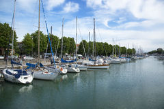 Little marina in Rimini Stock Photos