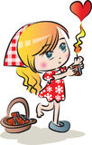 The Little Match Girl Found Love Royalty Free Stock Images