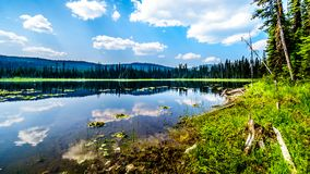 Little McGillivray Lake, near Sun Peaks in British Columbia, Canada stock photo