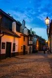 Little medieval houses on Golden Lane,Praha royalty free stock photos