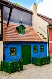 Little medieval houses on Golden Lane,Praha royalty free stock images