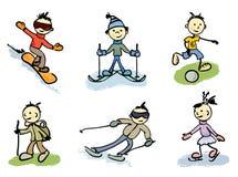 Little men in sports Royalty Free Stock Photo